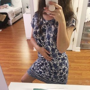 Dresses & Skirts - Blue printed dress